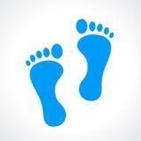 Human footprint vector icon Royalty Free Stock Photos