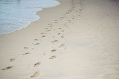 Human footprints Royalty Free Stock Photography