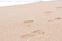 Human footprints Royalty Free Stock Image