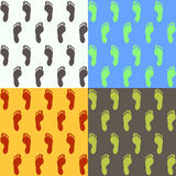 Human footprints Stock Images