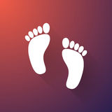 The human foots Royalty Free Stock Photography