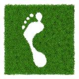 Human footstep Royalty Free Stock Photo
