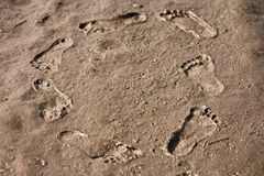 Human footsteps Royalty Free Stock Images
