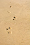 Human footsteps stock images