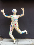 Human form art piece, in Nottingham, Engand. Stock Image
