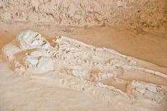 Human fossil at Kanchanaburi Royalty Free Stock Photo