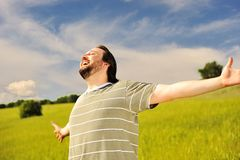 Human freedom, happiness Royalty Free Stock Photos