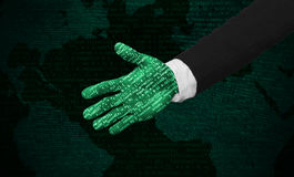 Human friendly cyber hand futuristic Royalty Free Stock Images
