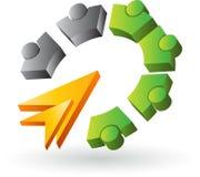 Human gears logo Royalty Free Stock Image