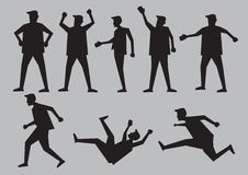 Human Gestures Silhouettes Vector Illustration Royalty Free Stock Photography