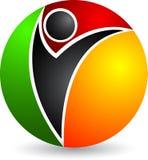 Human globe logo Stock Image