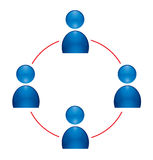 Human group icon Stock Images