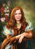 Human Hair Color, Portrait, Lady, Painting