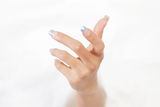 Human hand. Human female hand rising or reaching out Stock Photos