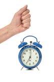 Human Hand and alarm Royalty Free Stock Image