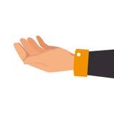 Human hand asking icon Royalty Free Stock Photo