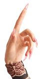 Human hand with the beautiful fingernail Royalty Free Stock Images