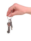Human hand with a bunch of keys Royalty Free Stock Photos