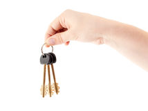 Human hand with bundle keys Stock Images