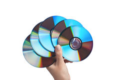 Human hand with CDs. Stock Image