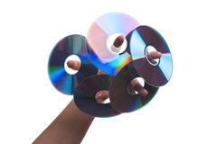 Human hand with CDs. Stock Images