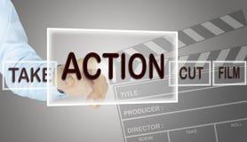 Human hand choose action Stock Photos