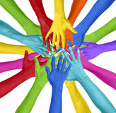 Human Hand Circle Togetherness Connection Teamwork Community Con Stock Image