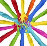 Human Hand Circle Togetherness Connection Teamwork Community  Royalty Free Stock Images