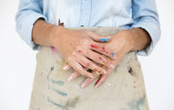 Human Hand Colorful Arts Concept Stock Images