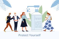 Free Human Hand Disinfection For Health Protection Stock Photo - 182617160