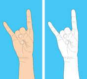 Human hand gesture Royalty Free Stock Photography