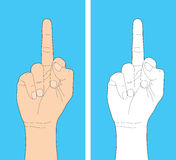 Human hand gesture Stock Images