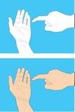 Human hand gesture Royalty Free Stock Photos