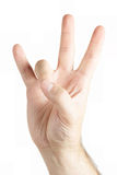 Human hand gesture Royalty Free Stock Photo