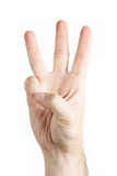 Human hand gesture Stock Photography