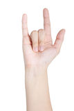 Human hand gesture. Hand gesture on white background Royalty Free Stock Image