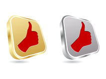 Human hand giving ok buttons Royalty Free Stock Images