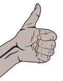 Human hand giving ok Stock Images