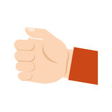 Human hand gripping isolated icon Stock Image