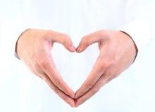 Human hand heart. Romantic love stock photo