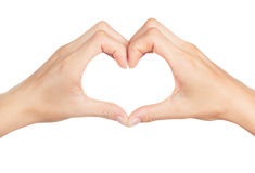 Human hand heart Royalty Free Stock Photography