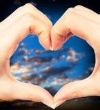 Human hand heart Royalty Free Stock Photo
