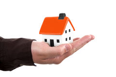 Human Hand Holding A House Stock Image