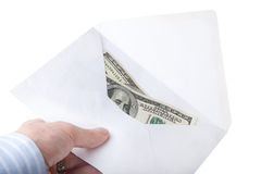Human hand holding dollar Stock Photo