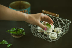 Human Hand Holding Food Royalty Free Stock Images
