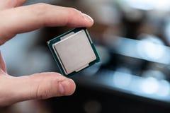 Human hand holding modern processor Stock Photography