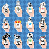 Human hand holding smartphone Royalty Free Stock Photography