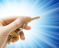 Human hand with keys Stock Image