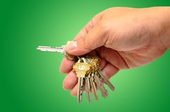 Human hand with keys Stock Images