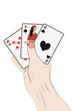 Human hand with playing cards Royalty Free Stock Photos